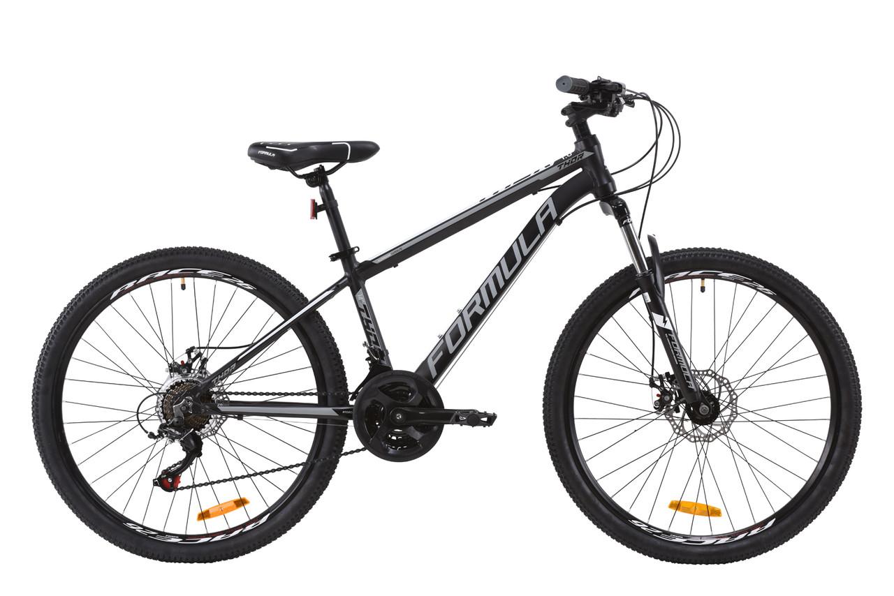 """Велосипед горный, подростковый 26"""" Formula THOR 1.0 2020 (рама 14"""", черно-серый)"""