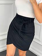 Замшевая юбка с запахом