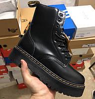 Ботинки зимние женские Dr. Martens Platform JADON black с мехом 36-40рр. Фото в живую. Топ реплика