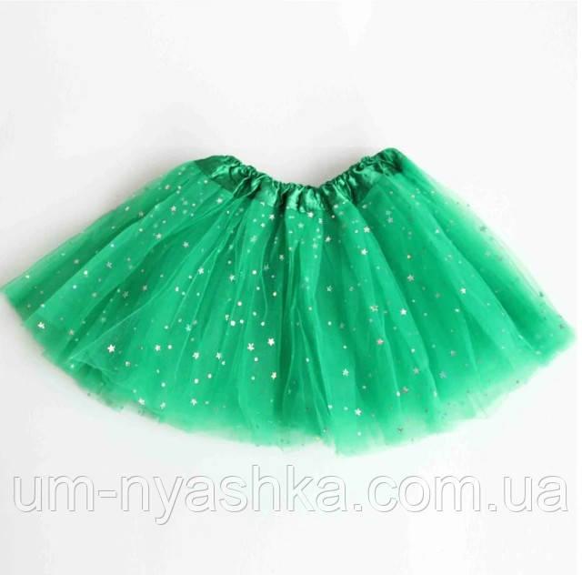 Дитяча спідниця туту зелена