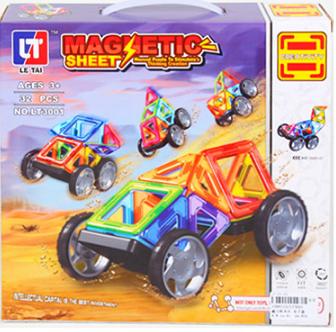 Конструктор магнитный LT3001 32дет, развивающая игрушка, подарок для ребенка, фото 2
