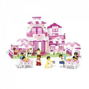 Конструктор М38 В0150 летнее кафе, 306 дет, в кор-ке 38-28-5 см, развивающая игрушка, подарок для ребенка