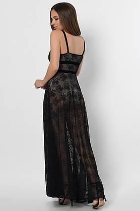 Нарядное вечернее платье в пол с вышивкой, фото 3