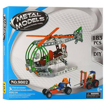 Конструктор 980 (9802), развивающая игрушка, подарок для ребенка, фото 2