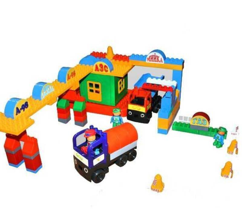 """Конструктор """"АЗС"""" 116 деталей 013888/04, развивающая игрушка, подарок для ребенка"""