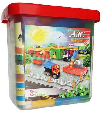 """Конструктор """"АЗС"""" 116 деталей 013888/04, развивающая игрушка, подарок для ребенка, фото 2"""