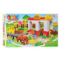 Конструктор JDLT 5206 зоопарк, развивающая игрушка, подарок для ребенка