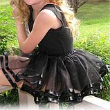 Спідниця-пачка пишна спідничка туту на 2-8 років Біла з зірками, фото 6