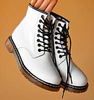 Женские зимние ботинки Dr. Martens 1460 белые без меха термо 36-40рр. Реальное фото. Топ реплика