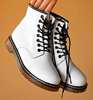 Женские зимние ботинки Dr. Martens 1460 белые с мехом 36-40рр. Реальное фото. Топ реплика