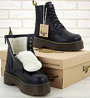 Ботинки зимние женские Dr. Martens Platform JADON черные с мехом 36-40рр. Фото в живую. Топ реплика