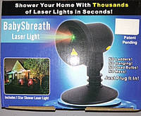 Лазерный проектор baby sbreath laser light(сердце,бабочки,звезды)(909-5).