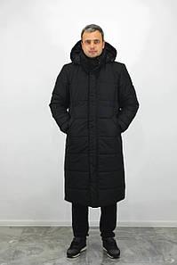 Длинная зимняя мужская парка куртка  до -30 пуховик