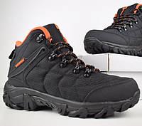 Зимние мужские ботинки Merrell Waterproof черные с оранжевым 41-45 рр. Живое фото. Реплика