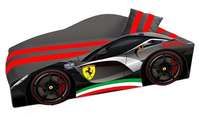 Кровать детская машина серии Elit Е-2 Ferrari gray