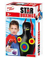 Игровой набор боксерская груша и перчатки с звуковыми эффектами на батарейках