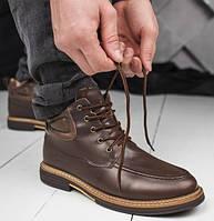 Мужские зимние ботинки UGG Australia Leather Boot Mason Brow натуральная кожа 41-45. Живое фото. Люкс реплика