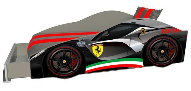 Кровать детская машина серии Elit Е-2 Ferrari gray (Фото 3)