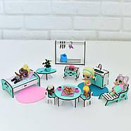 Кукольный домик NestWood Мини коттедж для ЛОЛ с мебелью 9 шт розовый (kdl002), фото 5