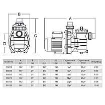 Насос для бассейна EMAUX SS033 (7 м3/час, 0,43 кВт, 220В), фото 3