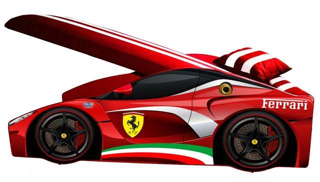 Кровать детская машина серии Elit Е-2 Ferrari red (Фото 2)