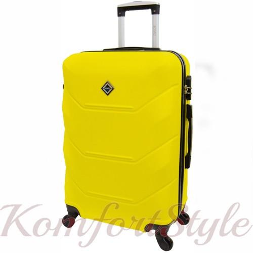 Дорожный чемодан на колесах Bonro 2019 большой желтый (10500600)
