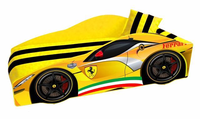 Кровать детская машина серии Elit Е-2 Ferrari yellow