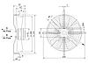 Осевой вентилятор Sigma 200 (1080 м³/ч), фото 2