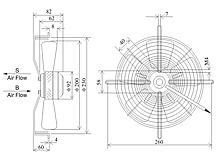 Осевой вентилятор Сигма 200 (780 м³/ч), фото 3