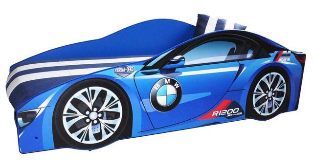 Кровать детская машина серии Elit Е-1 BMW blue