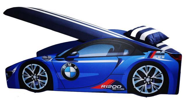 Кровать детская машина серии Elit Е-1 BMW blue (Фото 2)