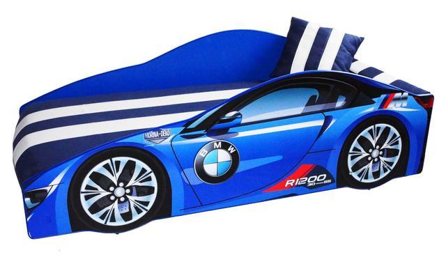 Кровать детская машина серии Elit Е-1 BMW blue (Фото 3)