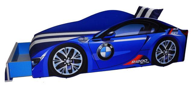 Кровать детская машина серии Elit Е-1 BMW blue (Фото 4)