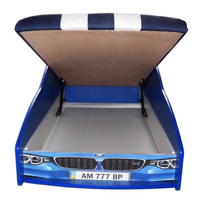 Кровать детская машина серии Elit Е-1 BMW blue (Фото 5)