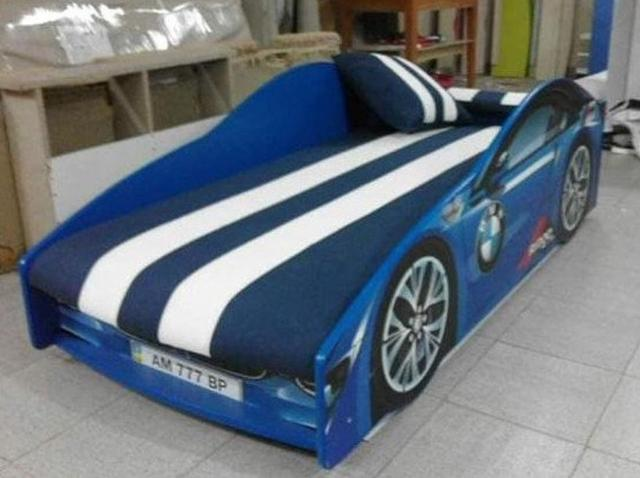 Кровать детская машина серии Elit Е-1 BMW blue (Фото 6)