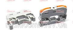 20-11-018. Многоразовая клемма PCT-211 на DIN-рейку с рычагами на 2 контакта (уп.-40шт)