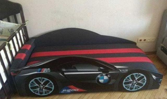 Кровать детская машина серии Elit Е-1 BMW gray (Фото 3)