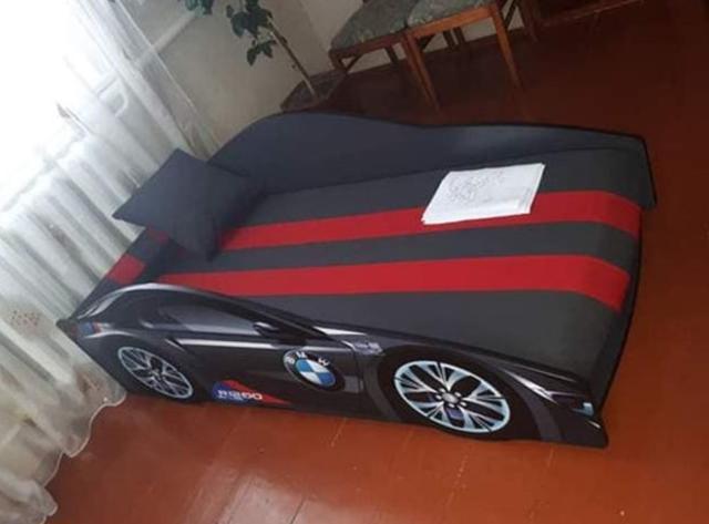Кровать детская машина серии Elit Е-1 BMW gray R1200