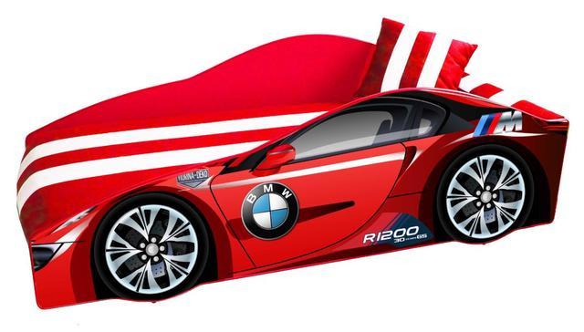 Кровать детская машина серии Elit Е-1 BMW red