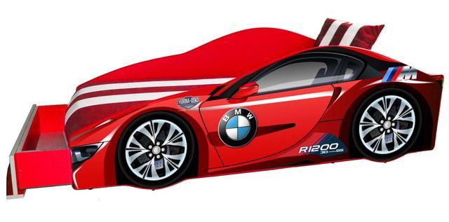 Кровать детская машина серии Elit Е-1 BMW red (Фото 2)
