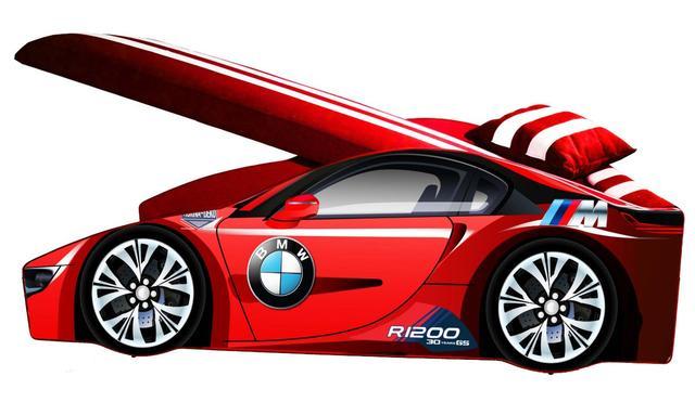 Кровать детская машина серии Elit Е-1 BMW red (Фото 3)
