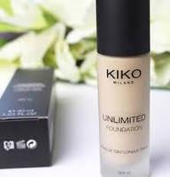 Тональный крем KIKO Unlimited Foundation (fond de tient longue tenue, 30 мл