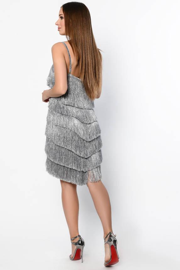 Красивое коктейльное платье серого цвета, фото 2