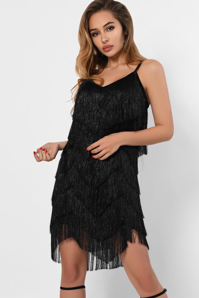 Красивое коктейльное платье черного цвета