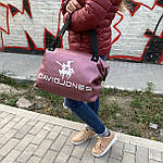 Сумка женская спортивная дорожная  David Jones  24л из искусственной кожи (DS011), фото 2