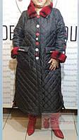 Эксклюзивное зимнее пальто черного цвета с капюшоном и манжетами из шиншиллы Pompadur, фото 1