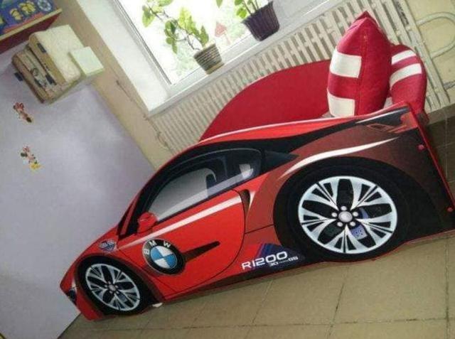 Кровать детская машина серии Elit Е-1 BMW red (Фото 4)