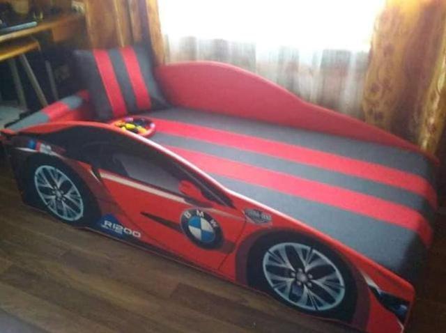 Кровать детская машина серии Elit Е-1 BMW red (Фото 5)