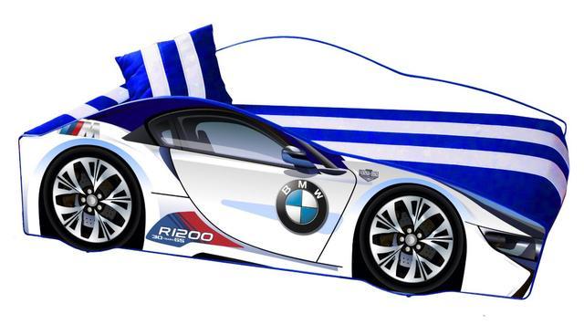 Кровать детская машина серии Elit Е-1 BMW White