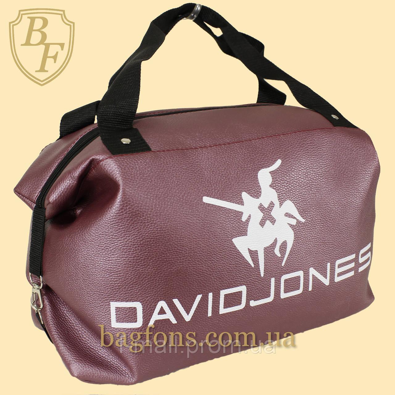 Сумка женская спортивная дорожная  David Jones  24л из искусственной кожи (DS011)